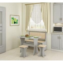 Virtuvės komplektas paprastas su taburetėmis