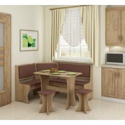 Virtuvės komplektas su taburetėmis