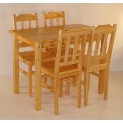 Stalas su 4 kėdėmis DELTA
