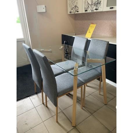 Stalas su 4 kėdėmis MLM-180607
